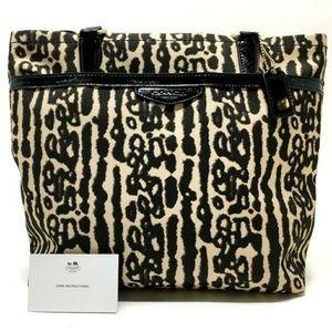 🔸Coach🔸Large Ocelot Leopard Print Nylon Tote